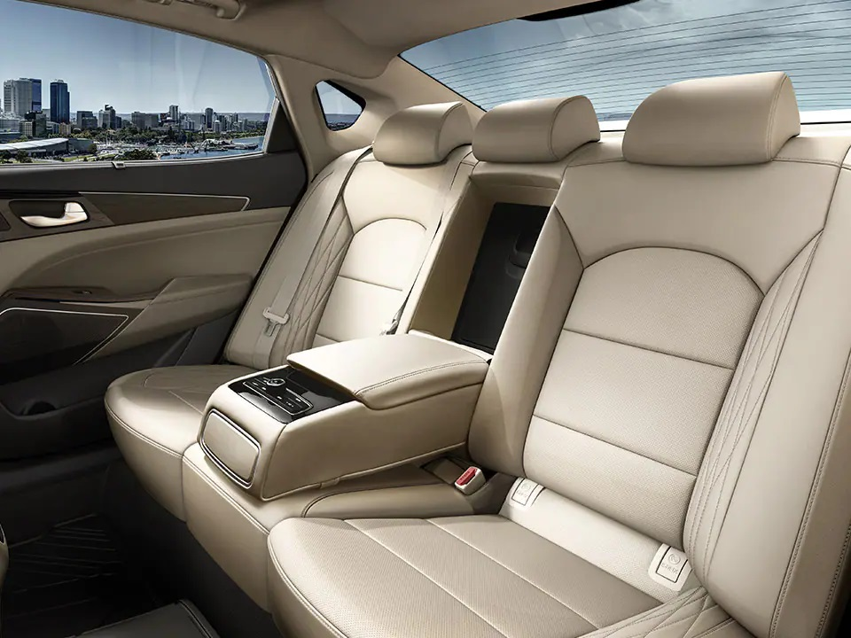 Rear seat comfort and convenience