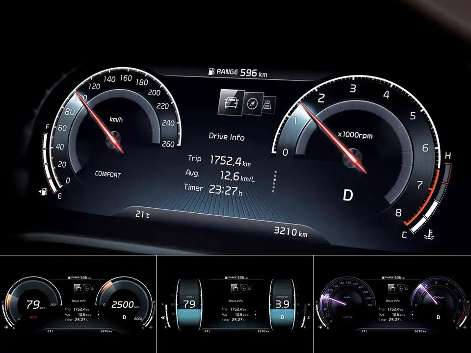 12.3-inch full LCD supervision cluster