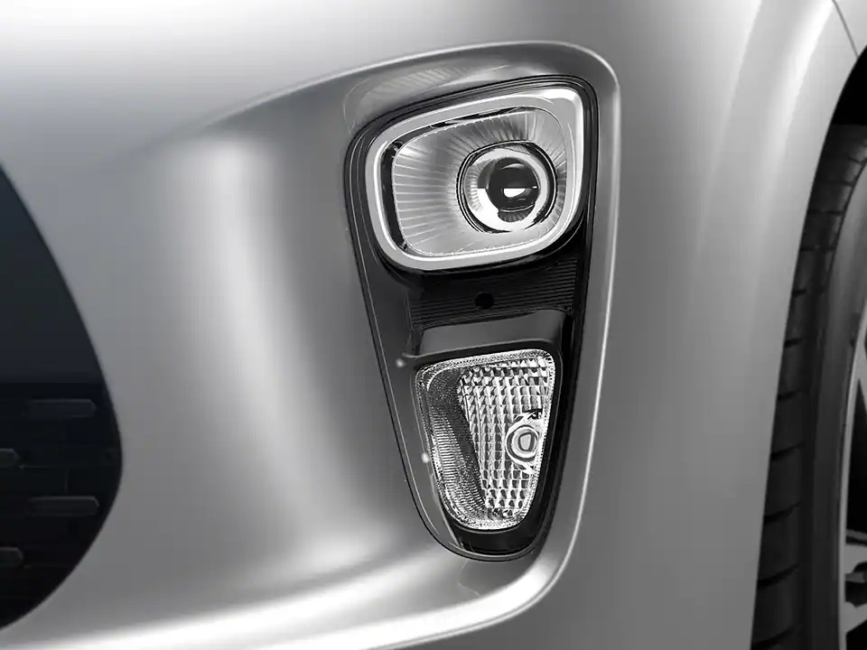 Projection fog lamp with DRL